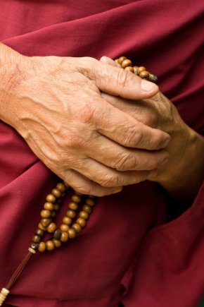 Buddhist mala (prayer) beads