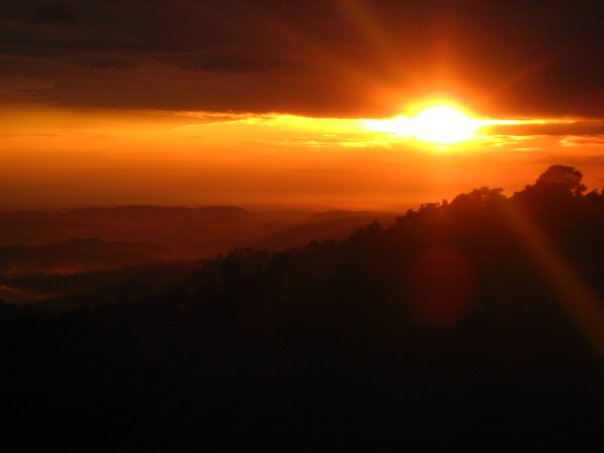 Sunset over Dharamsala